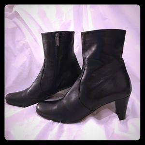 Taryn Rose Black Italian Leather Booties Size 8.5